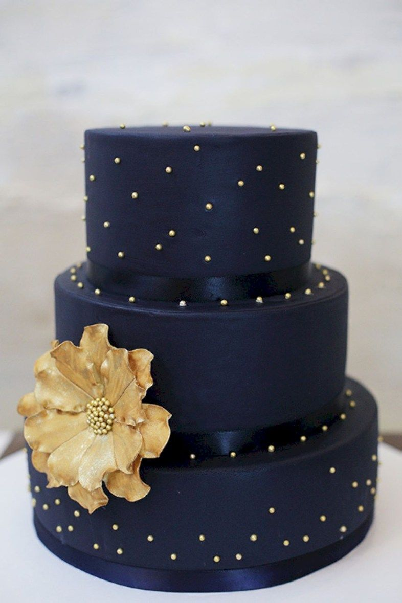 99 Amazing Navy Blue Wedding Cakes for D