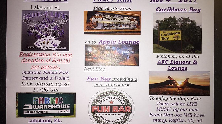 TBows/AFC 1st Annual Ride for Life Poker Run!