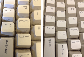 There is a reason keyboards are only dark colored...