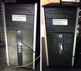 Dust Coming Out Of The PC Before & After