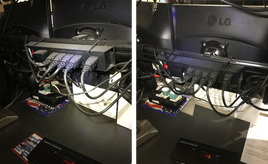 Dusty Backside of Monitor Before & After