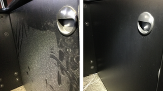 Dusty Console Door Before & After
