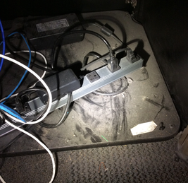 Dirty Surface With Power Strip