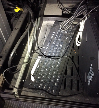 Under desk keyboard dirt