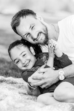 Papa-Tochter Foto