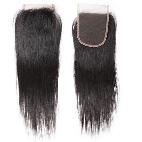 Raw Indian Straight   Lace Closure