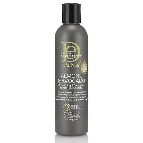 NATURAL ALMOND & AVOCADO Moisturizing & Detangling Sulfate-Free Shampoo