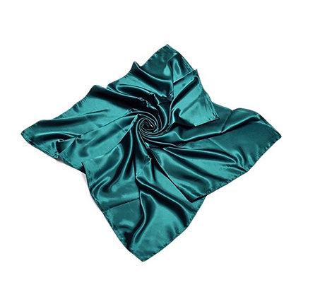 Love My Do' |  Large Teal Silk Scarf
