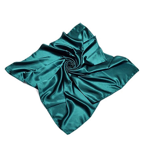 Love My Do' |  Large Teal Silk Scarf