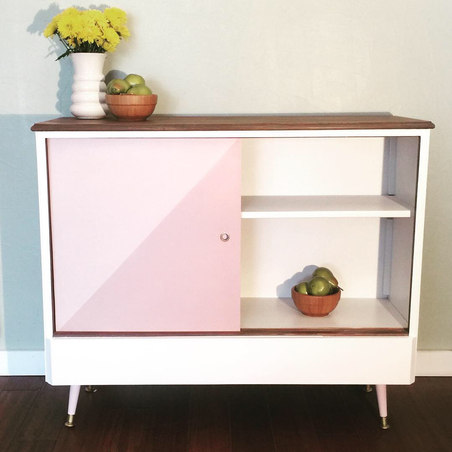Blush/Mauve Cabinet