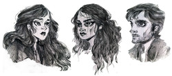 Three characters from my book
