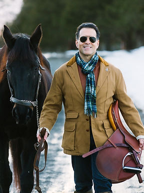 Actor, model Gregory Cole in Ralph Lauren and Hermes fashion editorial.