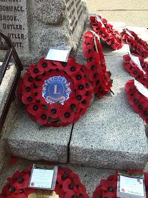 Each year the Lions president lays a wreath at Hailsham's war memorial