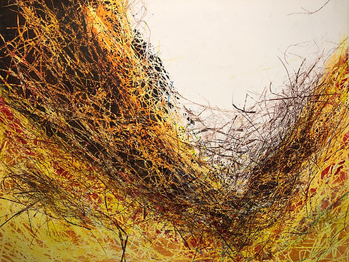 Gorge in Autumn, monotype, 38_ x 50,1400