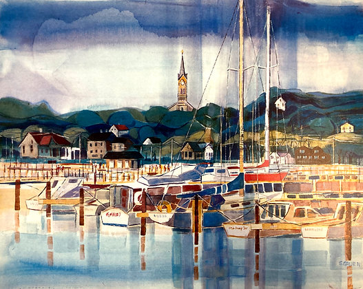 Port Washington Watercolor Marina