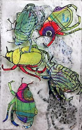 Japanese Beetles on Pulp