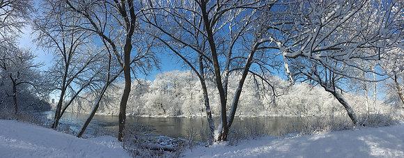 Hubbard Park Winter Panorama