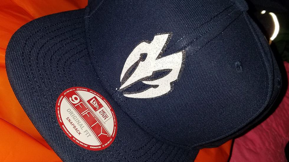 Black w/ White logo Snapback