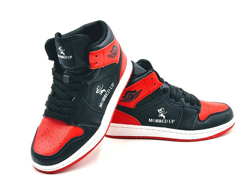 CHICAGO MOBBED UP BLACK- RED HIGH-TOPS