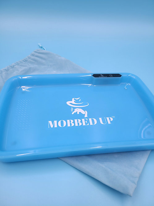 LARGE BLUE  ROLLING TRAY