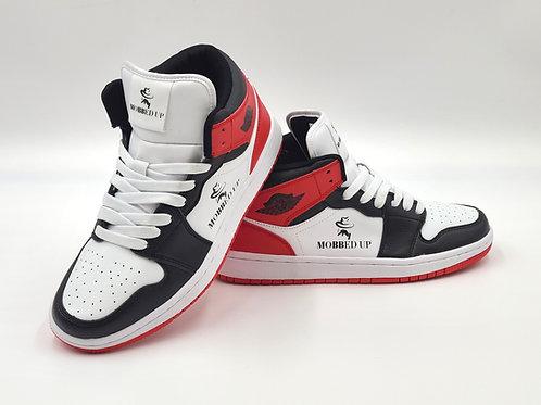 BLACK- WHITE- RED HIGH-TOPS