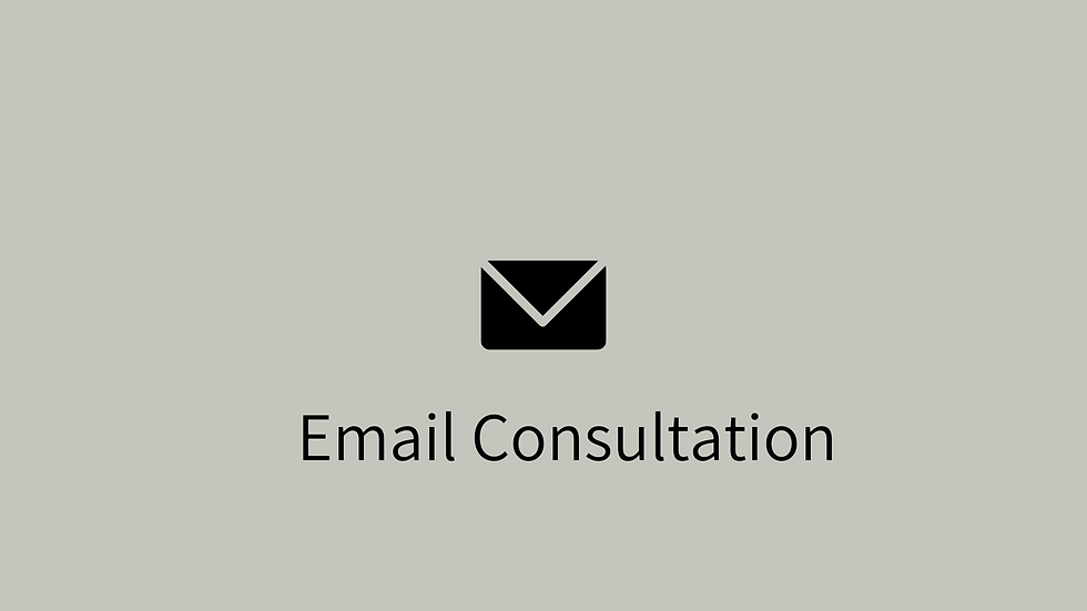 Email Consultation +3 weeks support