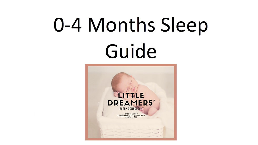 0-4 MONTHS SLEEP GUIDE