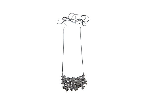Ines telles silver necklace mod jewellery