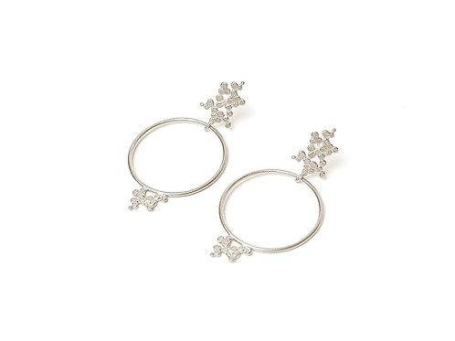 Ines telles silver earrings mod jewellery