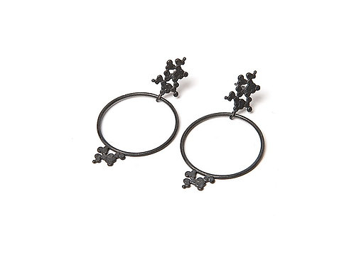 Ines telles silver earrings mod jewellery