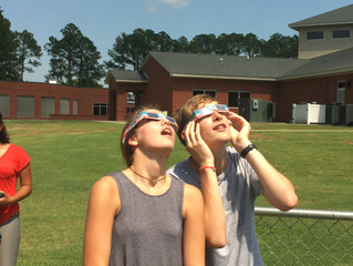 Celebrating the Solar Eclipse at WCDS