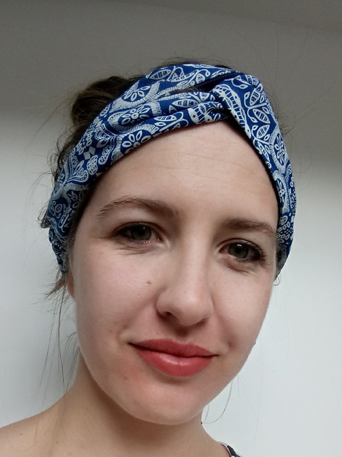 Shweshwe fabric turban headband