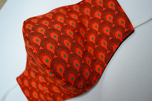 3 Layer Fabric Face Mask - orange
