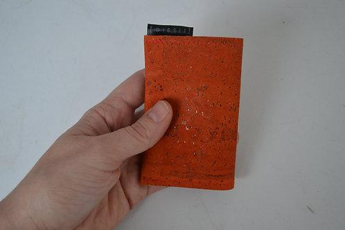 Orange Vegan Cork Leather Cardholder