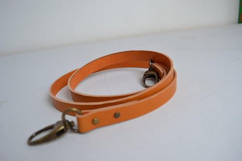 Handmade tan genuine leather crossbody strap