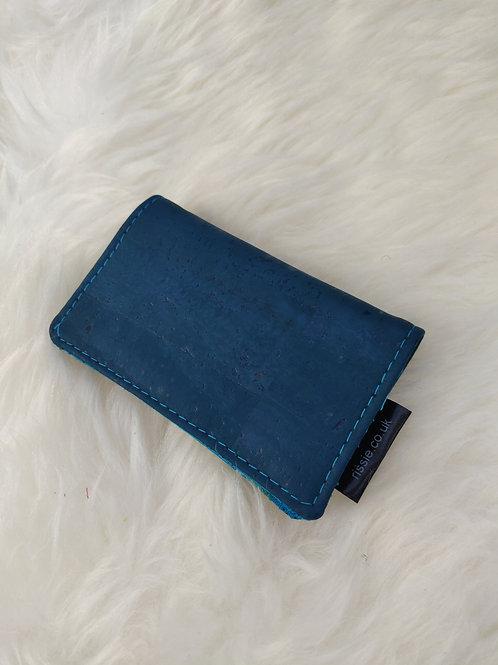 Teal Vegan Cork Leather Cardholder