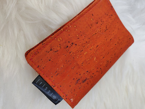 Orange Vegan Cork Leather Cardholder