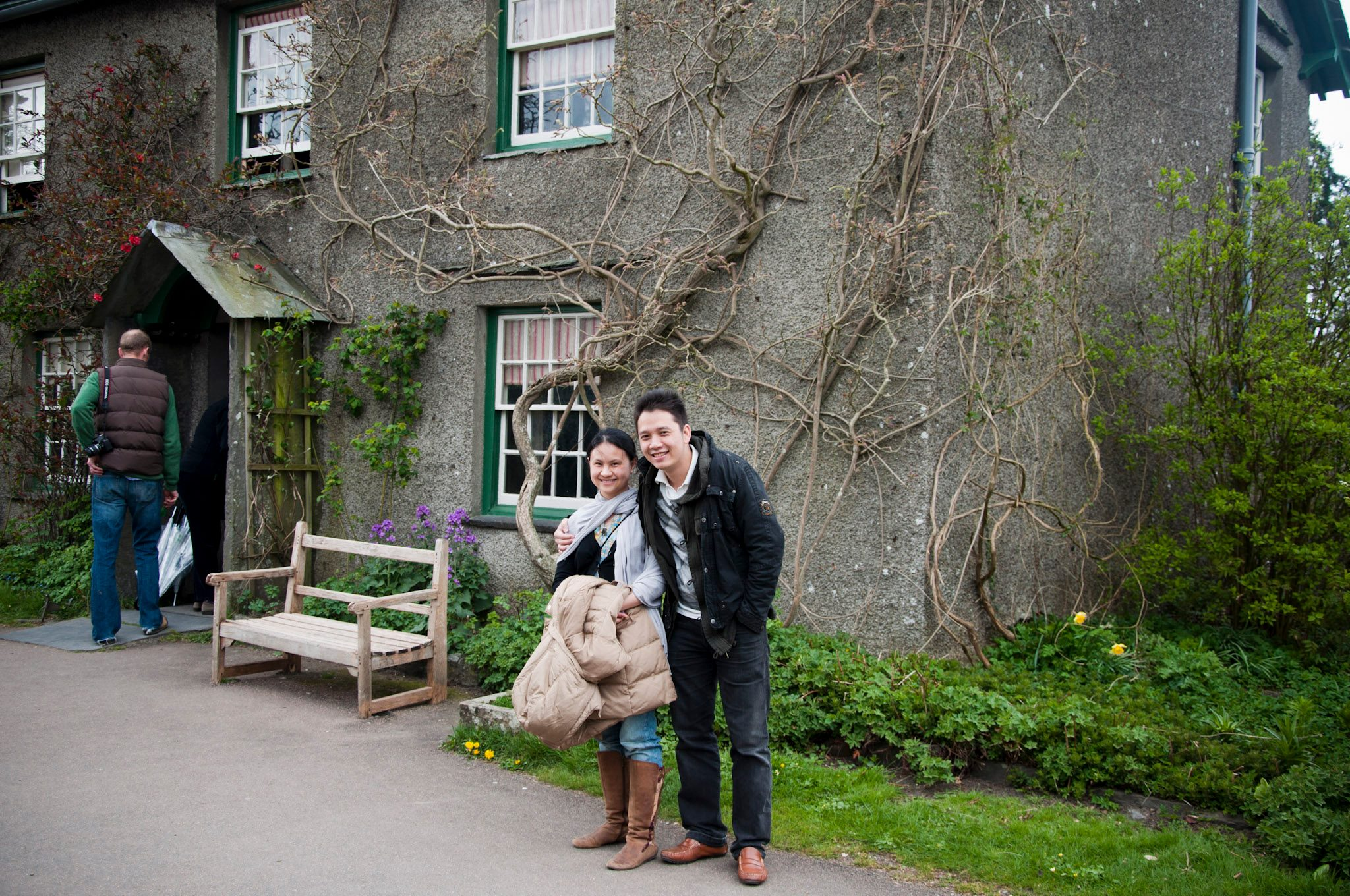In front of Beatrix Potter's house