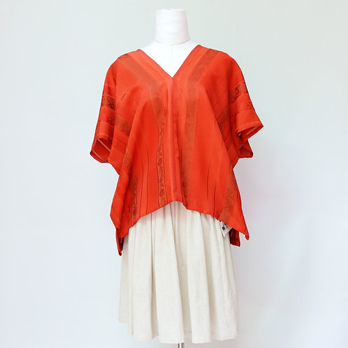 Kimono sleeve silk top