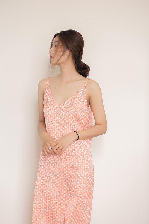 Kimono silk slip dress