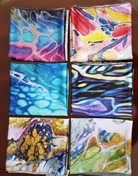 Variety of Charmeuse Scarves