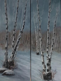 Winter birches #1 and #2
