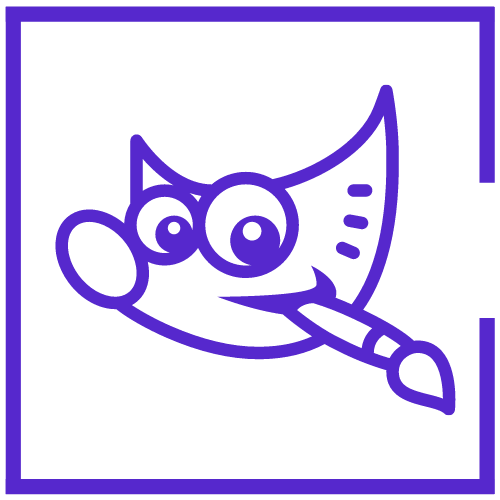GIMP logo lavender