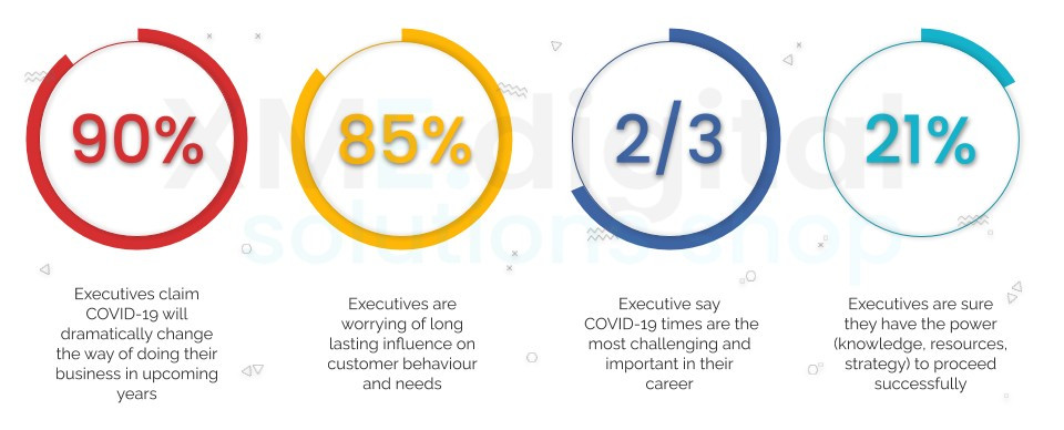 What do executives think about business preparation during COVID-19