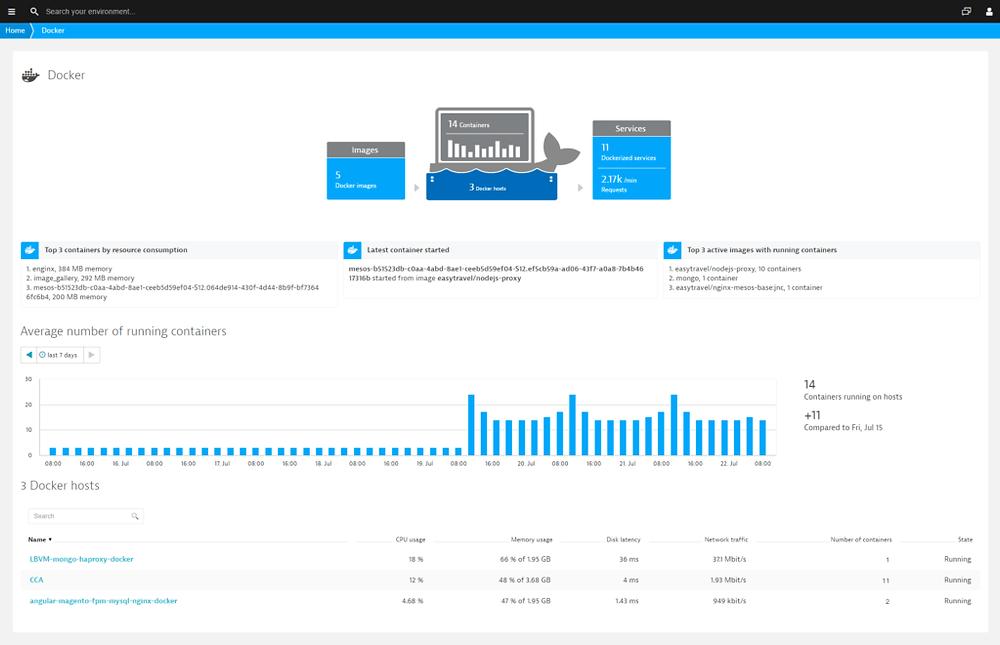 Docker screenshot example