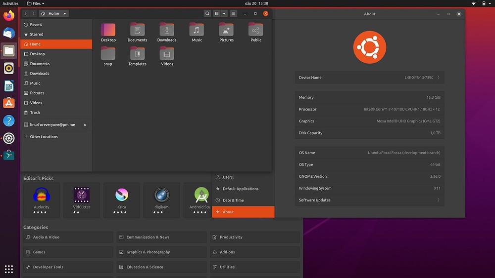 Ubuntu screenshot example