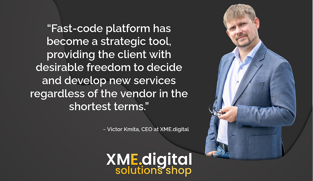 Microservices-based CRM middleware Case Study | Victor Kmita about fast-code platform | XME.digital