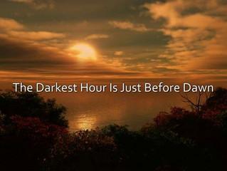 Before dawn...