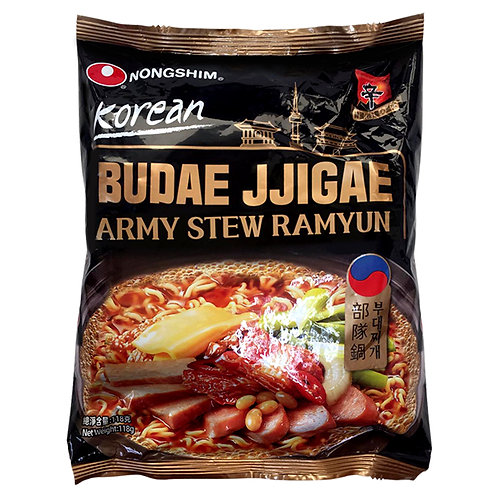 BUDAE JJIGAE ARMY STEW RAMYUN POUCH 118G (32 PCS/CASE)
