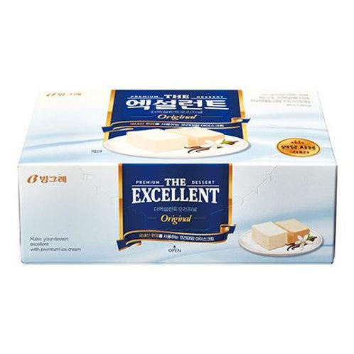 EXCELLENT VANILLA CUBES ICE CREAM  (8 PACKS/CASE)